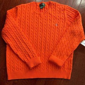 XL Vintage Ralph Lauren Cable Knit Sweater, NWT